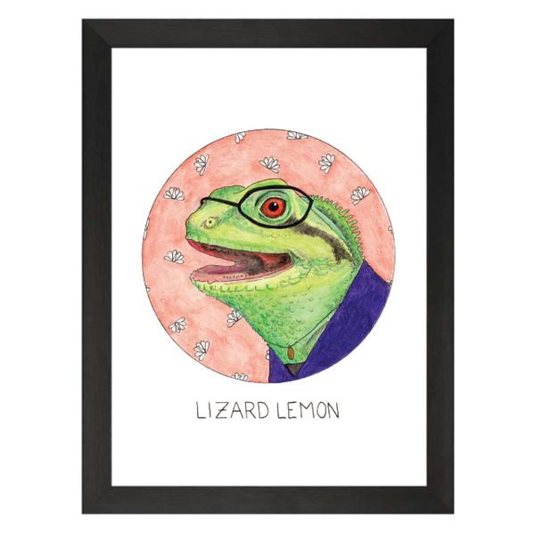 Lizard Lemon / Liz Lemon / 30 Rock Petflix Art Print