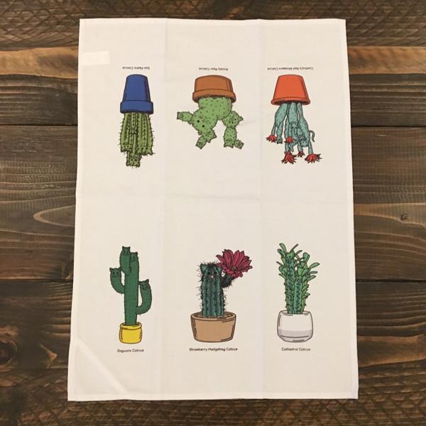Catcus Tea Towel - Feature Pattern