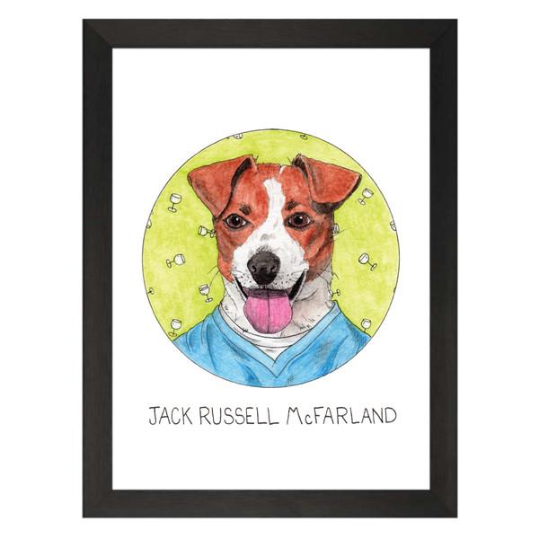 Jack Russell McFarland / Jack McFarland / Will & Grace Petflix Art Print