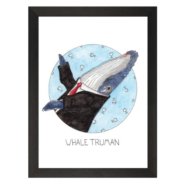 Whale Truman / Will Truman / Will & Grace Petflix Art Print