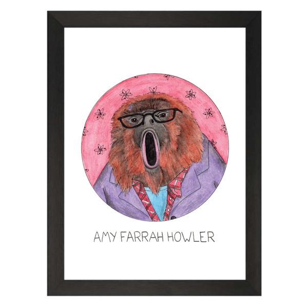 Amy Farrah Howler / Amy Farrah Fowler / The Big Bang Theory Petflix Art Print