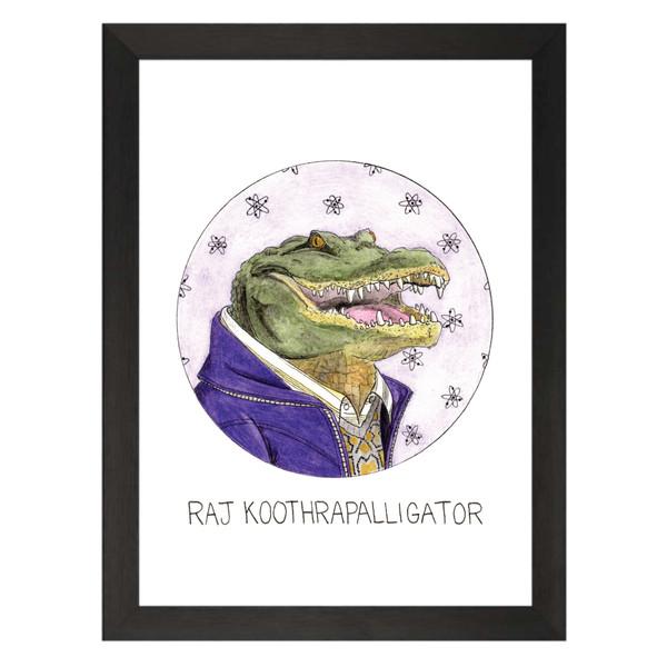 Raj Koothrapalligator / Raj Koothrappali / The Big Bang Theory Petflix Art Print