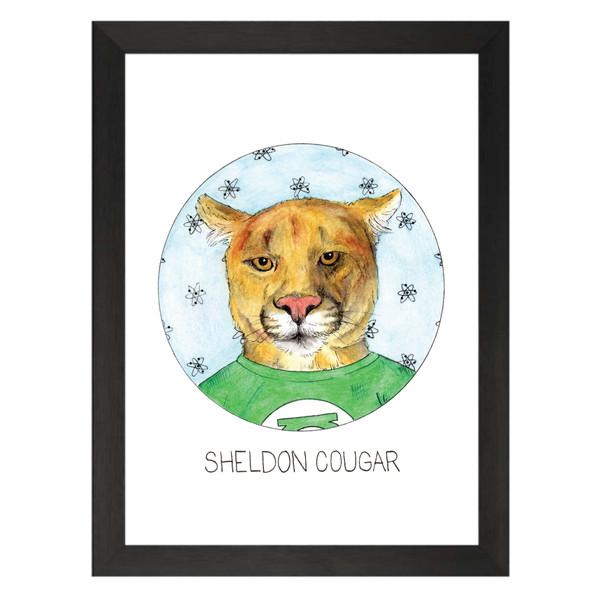 Sheldon Cougar / Sheldon Cooper / The Big Bang Theory Petflix Art Print
