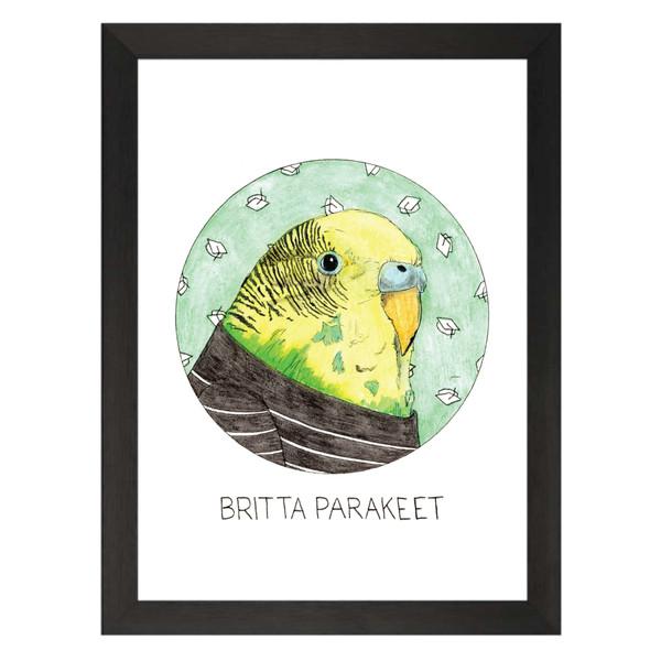 Britta Parakeet / Britta Perry / Community Petflix Art Print