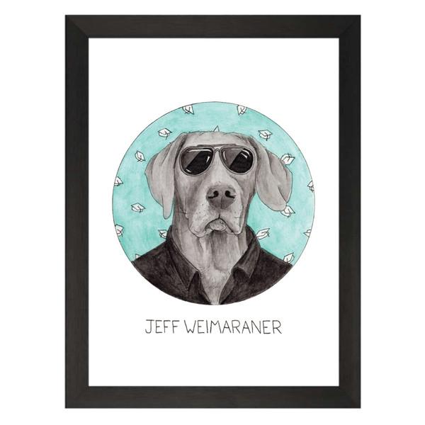 Jeff Weimaraner / Jeff Winger / Community Petflix Art Print