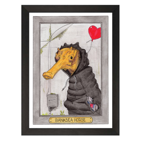 Banksea Horse / Banksy / Zooseum Art Print