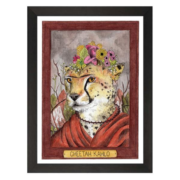 Cheetah Kahlo / Frida Kahlo / Zooseum Art Print