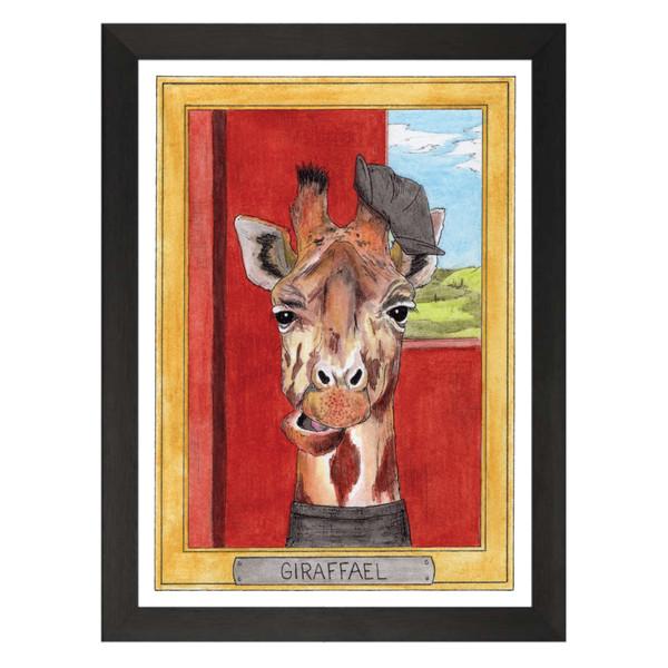 Giraffael / Raphael Sanzio / Zooseum Art Print