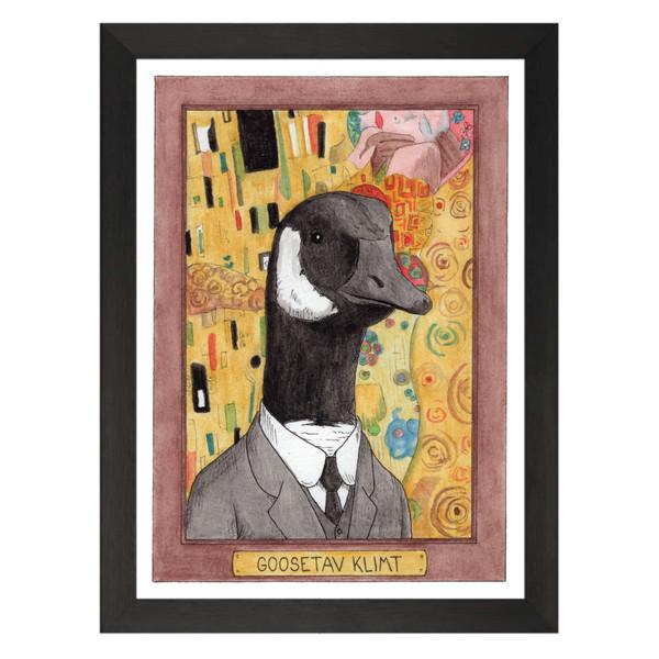 Goosetav Klimt / Gustav Klimt / Zooseum Art Print