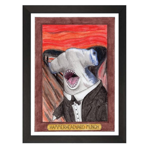 Hammerheadvard Munch / Edvard Munch / Zooseum Art Print
