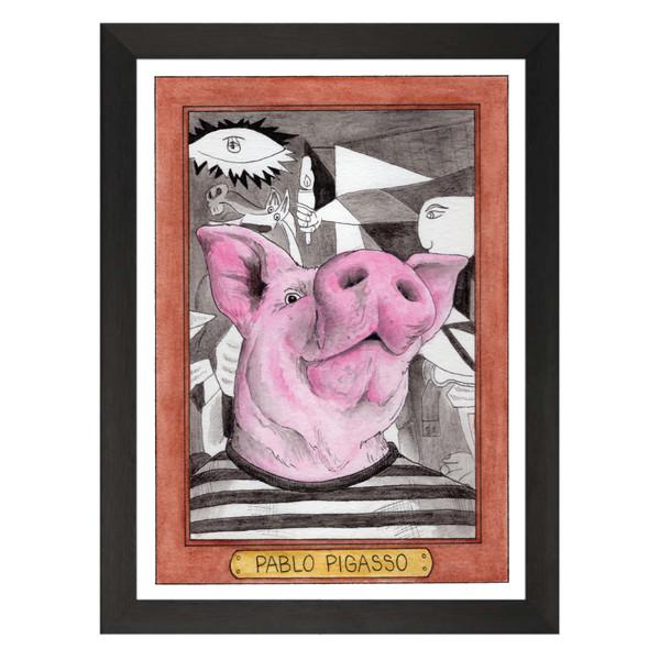 Pablo Pigasso / Pablo Picasso / Zooseum Art Print
