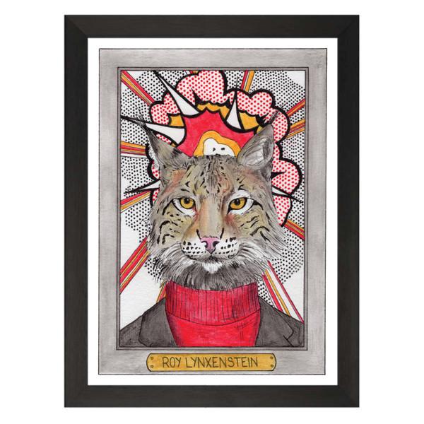 Roy Lynxenstein / Roy Lichtenstein / Zooseum Art Print