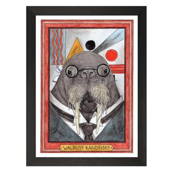 Walrusy Kandinsky / Wassily Kandinsky / Zooseum Art Print