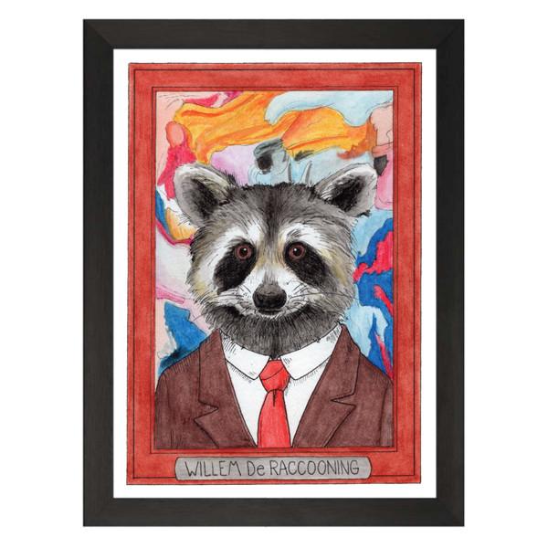 Willem de Raccooning / Willem de Kooning / Zooseum Art Print