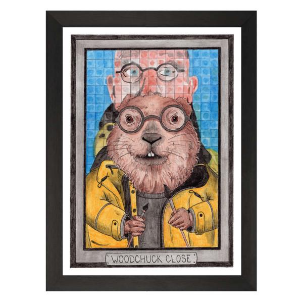 Woodchuck Close / Chuck Close / Zooseum Art Print