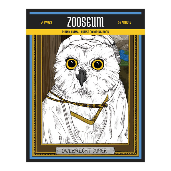 Zooseum Punny Animal Artist Coloring Book
