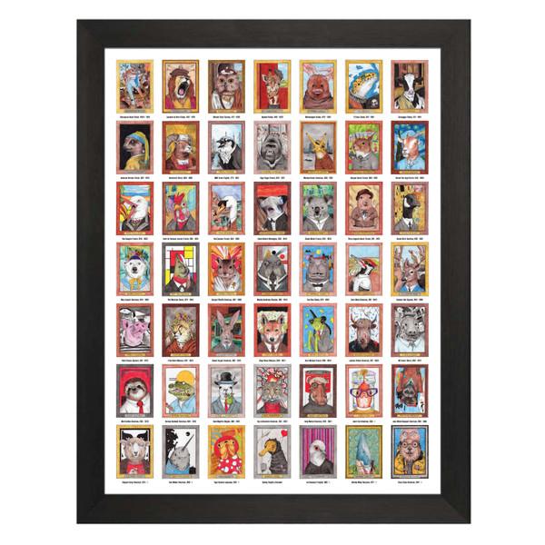 Zooseum Punny Animal Artist Poster