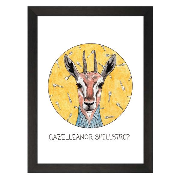 Gazelleanor Shellstrop / Eleanor Shellstrop / The Good Place Petflix Art Print