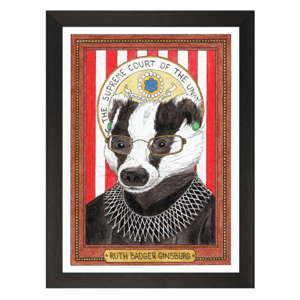 Ruth Badger Ginsburg / Ruth Bader Ginsburg / Wild Idols Art Print