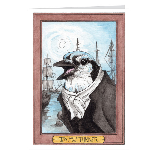 Jay MW Turner Zooseum Greeting Card - Punny Animal Artist - JMW Turner