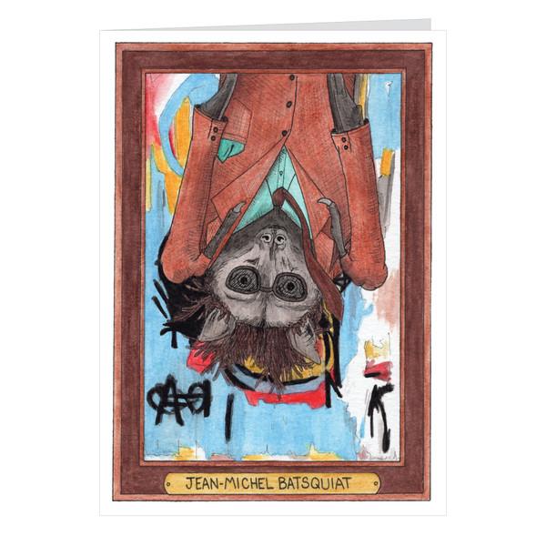 Jean-Michel Batsquiat Zooseum Greeting Card - Punny Animal Artist - Jean-Michel Basquiat