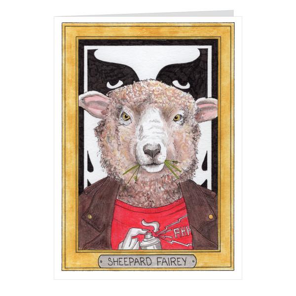 Sheepard Fairey Zooseum Greeting Card - Punny Animal Artist - Shepard Fairey