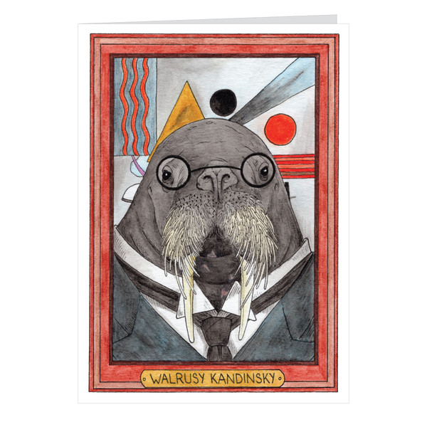 Walrusy Kandinsky Zooseum Greeting Card - Punny Animal Artist - Wassily Kandinsky