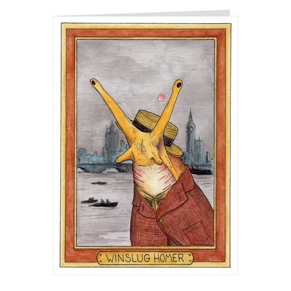 Winslug Homer Zooseum Greeting Card - Punny Animal Artist - Winslow Homer