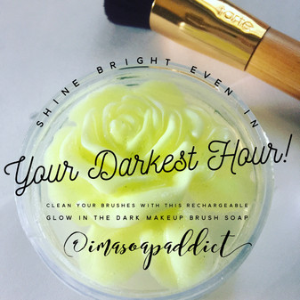 Shine bright even in your darkest hour! Clean your brushes with this rechargeable #glowinthedark
