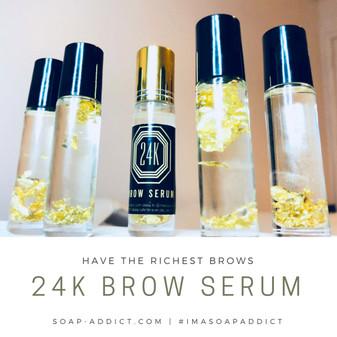 24K BROW SERUM  GROW RICH EYEBROWS