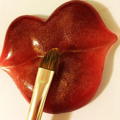 Big Red Lips Makeup Brush Cleaner