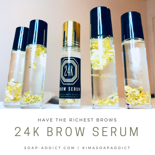 24K BROW SERUM  GROW RICH EYEBROWS