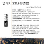 COLOMBIANO 24K AntiCel Instructions