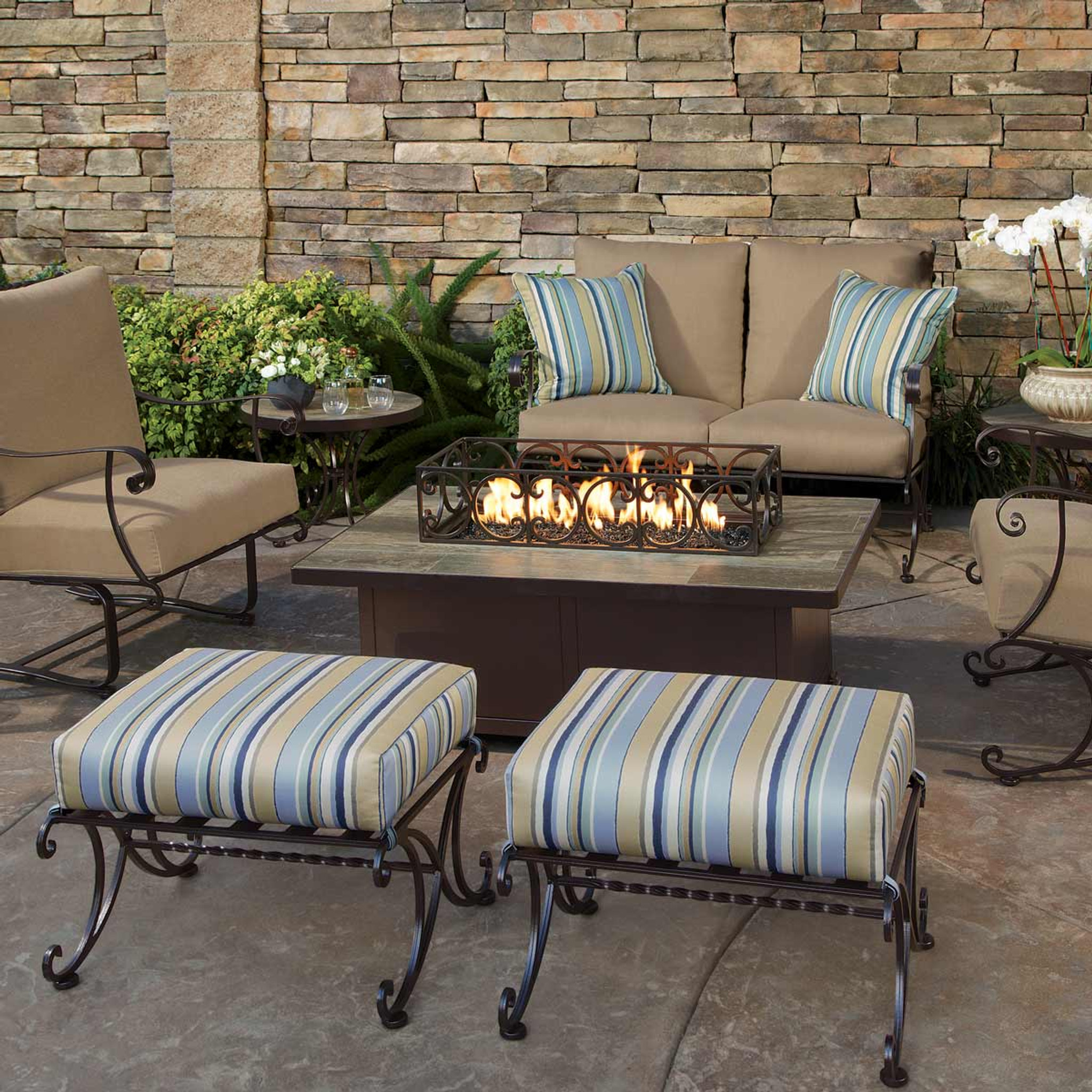 ow_lee-fire_pits_los_angeles-patio_furniture_los_angeles-OW_Lee-Santorini_30in_x_50in_Occasional_Height_Fire_Pit-img.jpg  ... - Santorini 30in X 50in Occasional Height Fire Pit By OW Lee