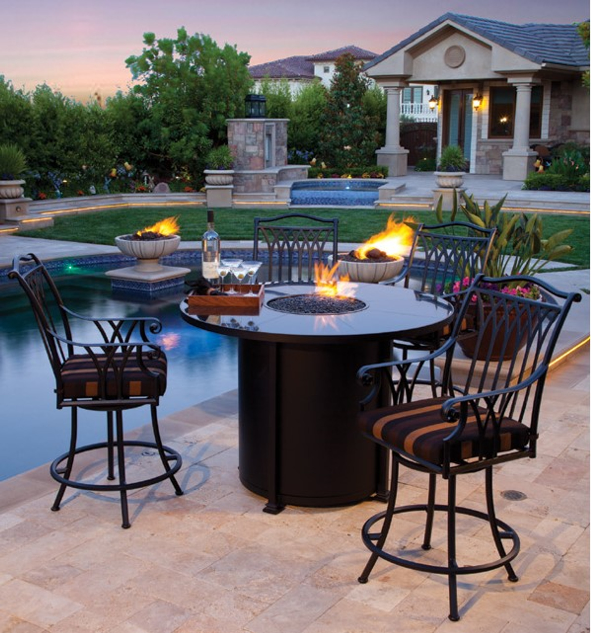 Picture of: Santorini 54in Round Counter Height Fire Pit By Ow Lee