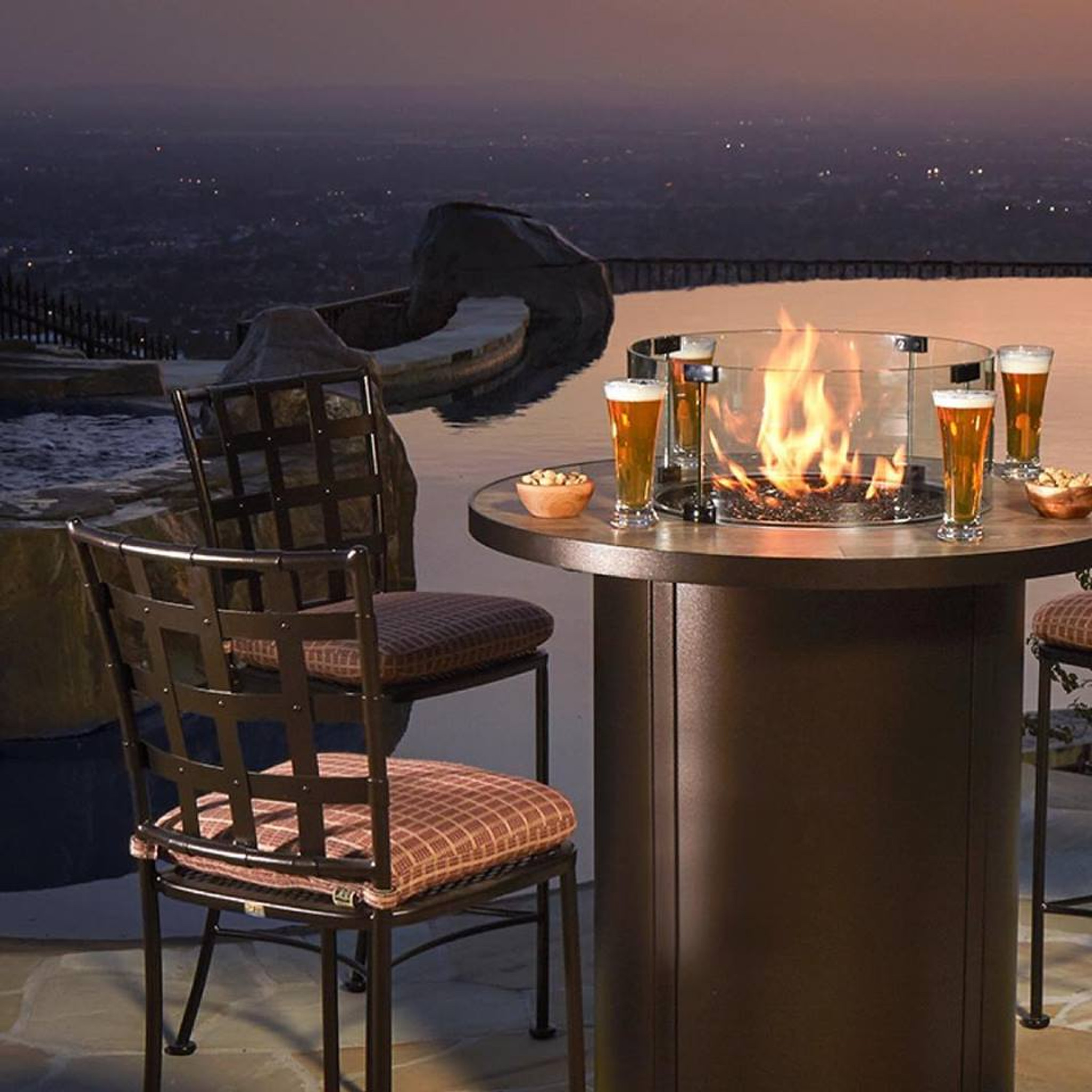 Picture of: Santorini 36 Round Counter Height Fire Pit By Ow Lee