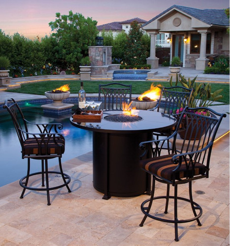 """Outdoor_Furniture-Pacific_Patio_Furniture-OW_Lee-Santorini_54""""_Round_Counter_Height_Fire_Pit-img2.jpg"""