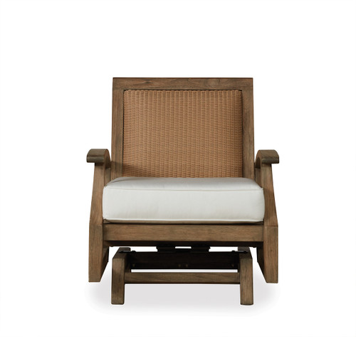Lloyd Flanders Wildwood Spring Rocker Lounge Chair Outdoor Teak Furniture
