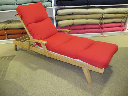 Chaise Lounge Cushion - Canvas Jockey Red