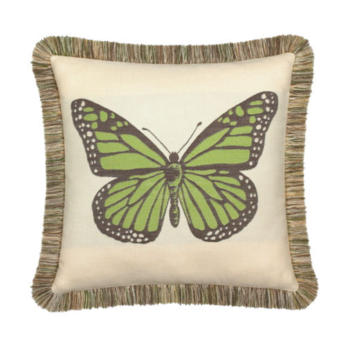 Elaine Smith Outdoor Pillow Butterfly Peridot