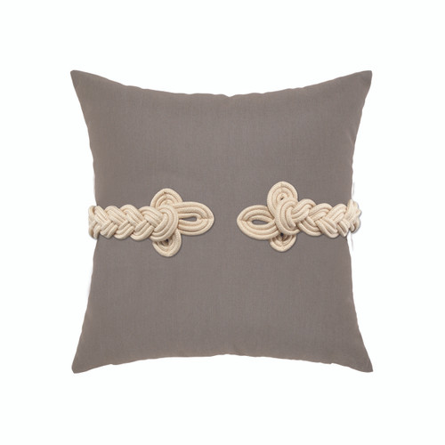 Taupe Frog's Clasp Elaine Smith Outdoor Pillows