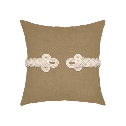 Beige Frog's Clasp Elaine Smith Outdoor Pillows