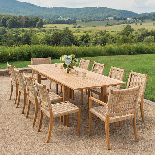 Kingsley_bate_hudson_teak_outdoor_dining_table_set