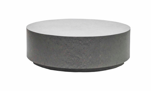 "Florence 42"" Rd Faux Concrete Coffee Table"