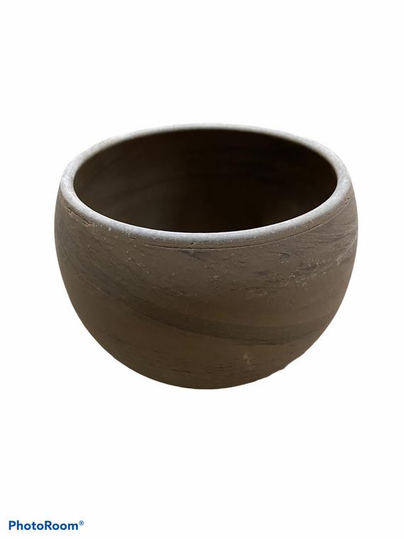"Basalt Terracotta Circular Pot - 6"""
