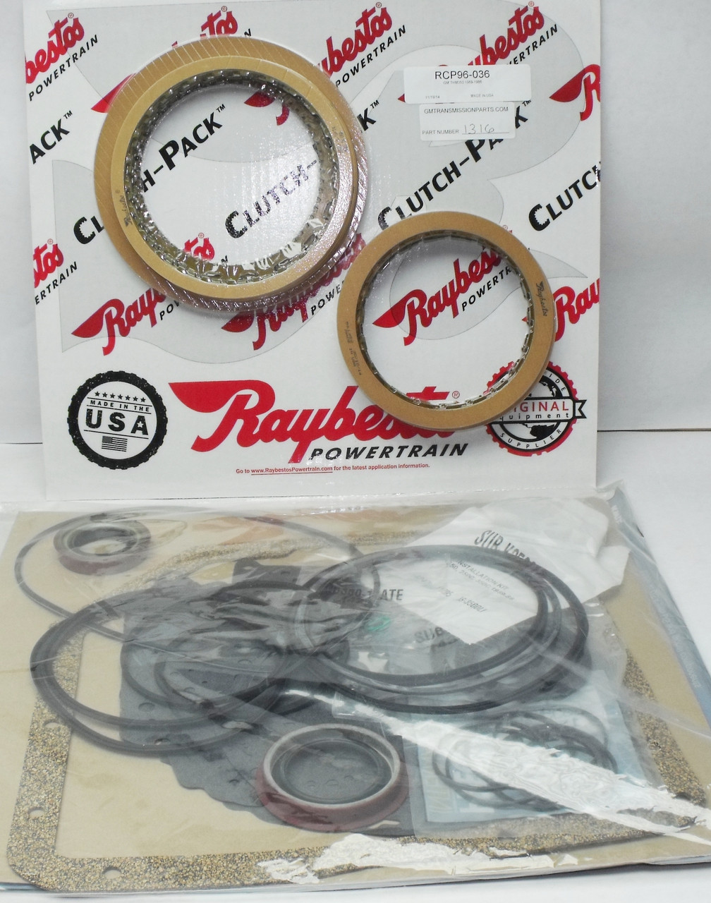 1969-1986 THM350 Overhaul rebuild kit with Frictions