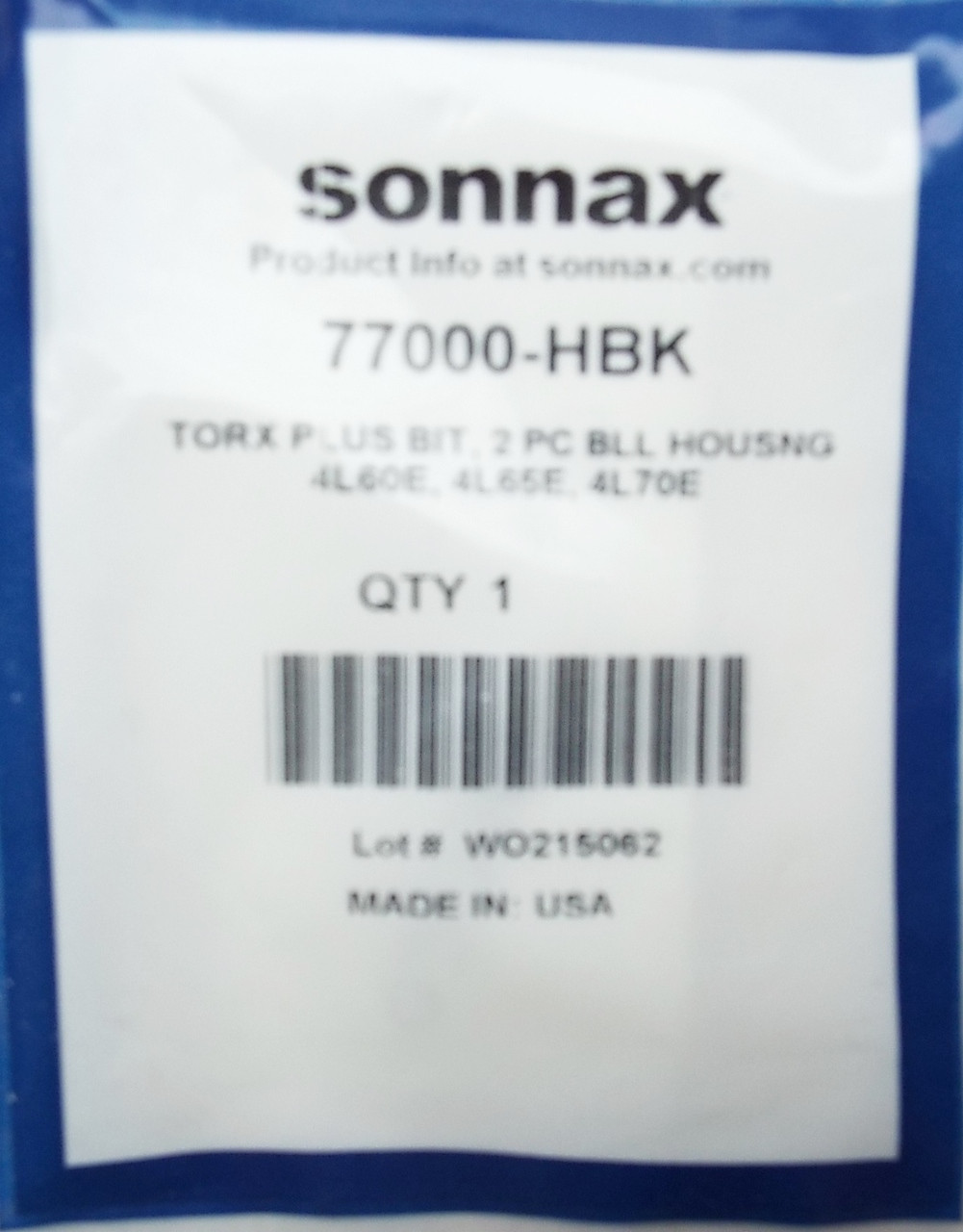 Torx Plus Bit by Sonnax | TP-50+ Bell Housing Bolt Tool