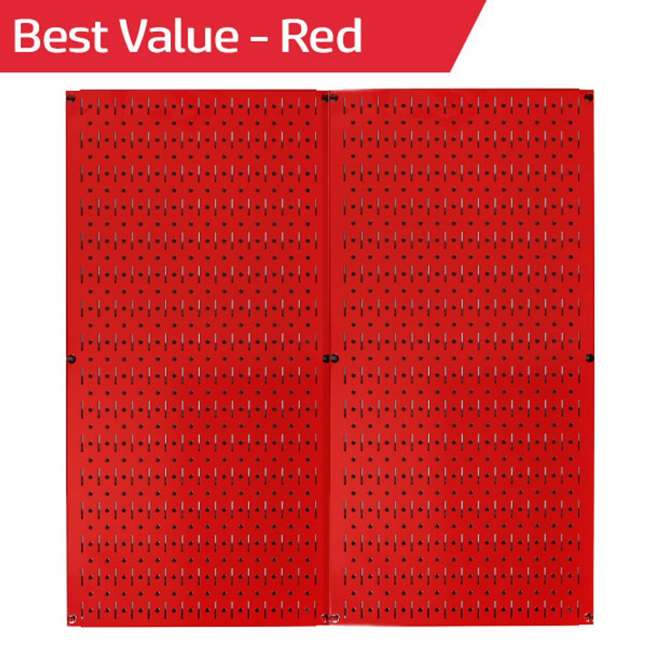 Wall Control Metallic Pegboard And Red Metal Pegboard: Red Metal Peg Board Pack