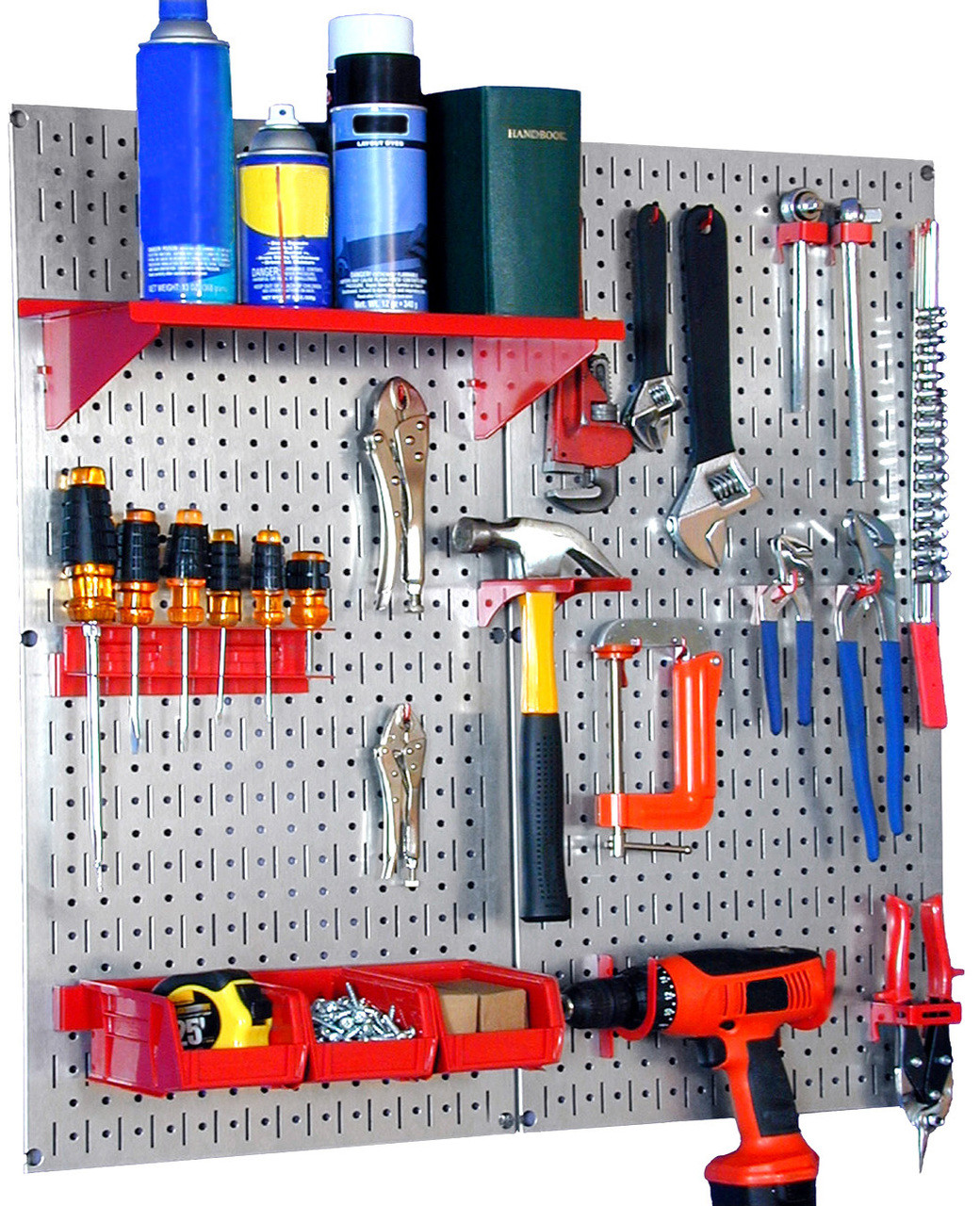 Pegboard tool storage photos