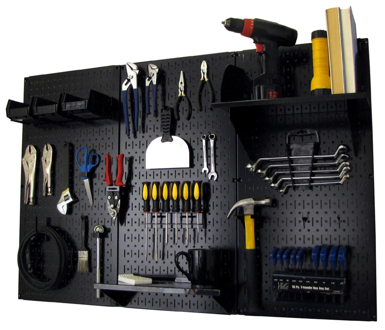 "and J Peg Hooks 2/"" Garage Tool Pegboard Display 20 Ea of  1/"" Angle 80 Pack"
